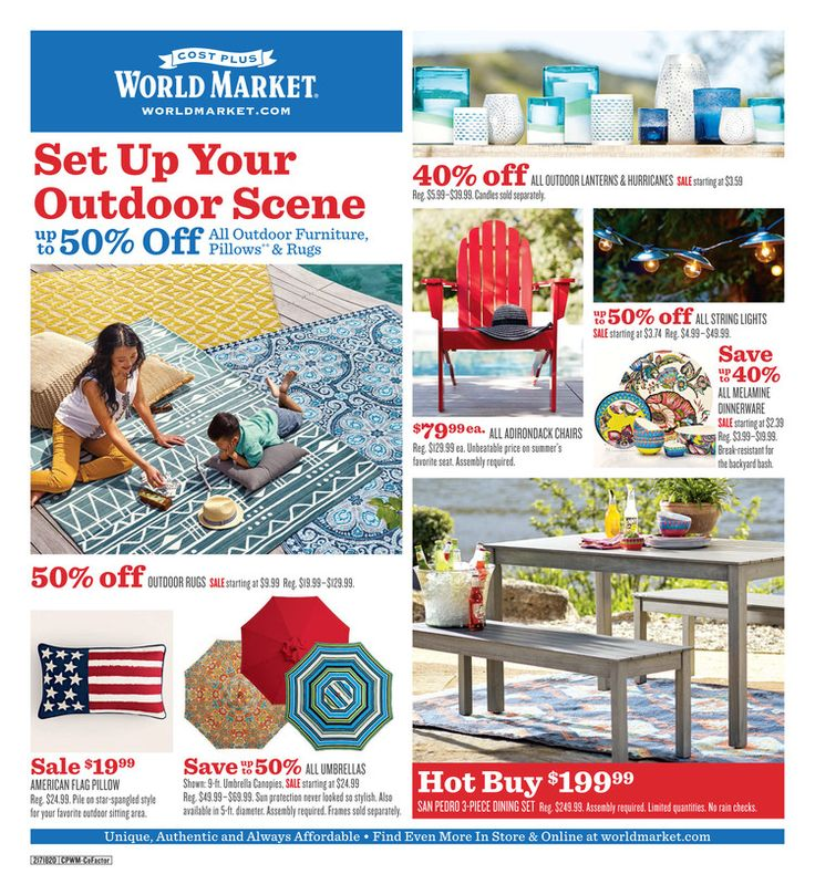 Cost Plus World Market Weekly Ad June 26 - July 9, 2017 - http://www.olcatalog.com/world-market/world-market-weekly-ad.html