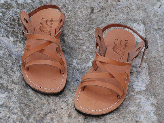 leather greek sandals grecian sandals flat strappy sandals