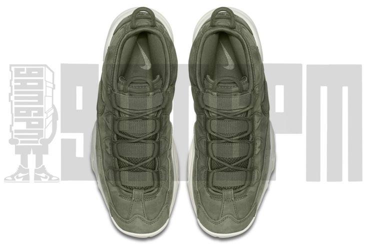 Nike AIR MAX UPTEMPO 7 8 9 10 11 12 13 URBAN HAZE OLIVE GREEN foamposite pippen | eBay