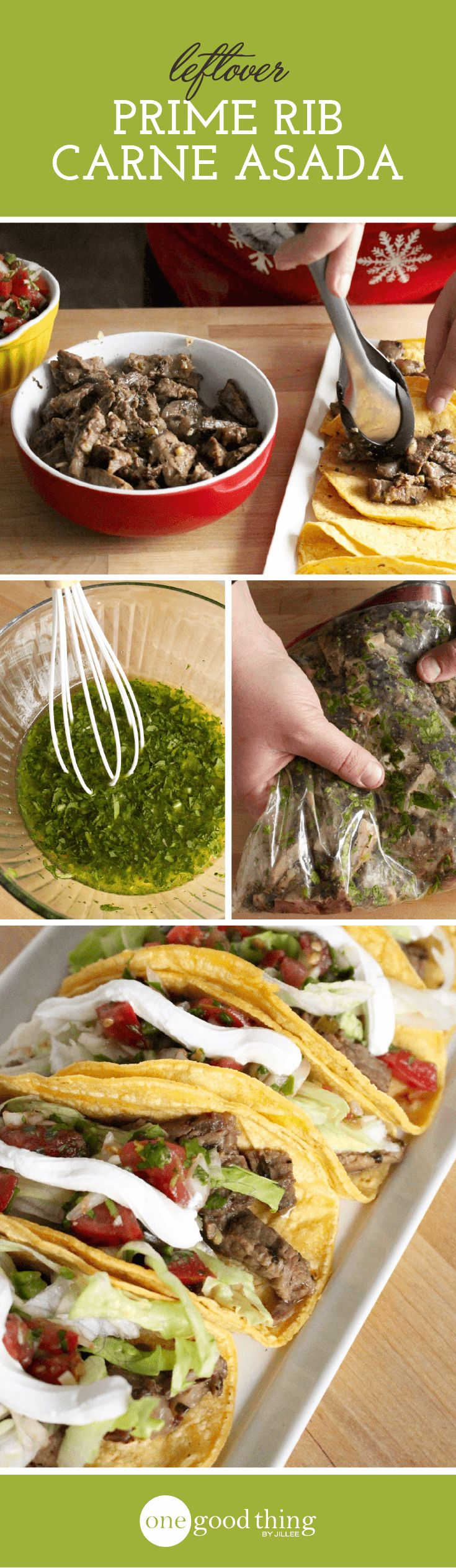 Any time I make prime rib, I make more than I need JUST so I can make these carne asada tacos. Trust me, you'll want to try this one!