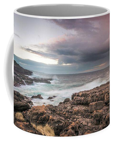 Green Cape Coffee Mug featuring the photograph Untamed Coast by Racheal Christian