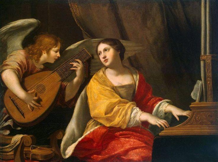 Jacques Blanchard (1600-1638), Santa Cecilia, Hermitage Museum, San Pietroburgo