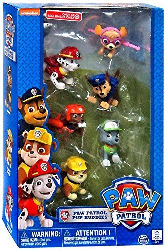 This Paw Patrol 6 Piece Paw Buddy Play Set is the perfect gift for fans of the hit Nick Junior program. Use as a cake topper or play with in games like hot potato.