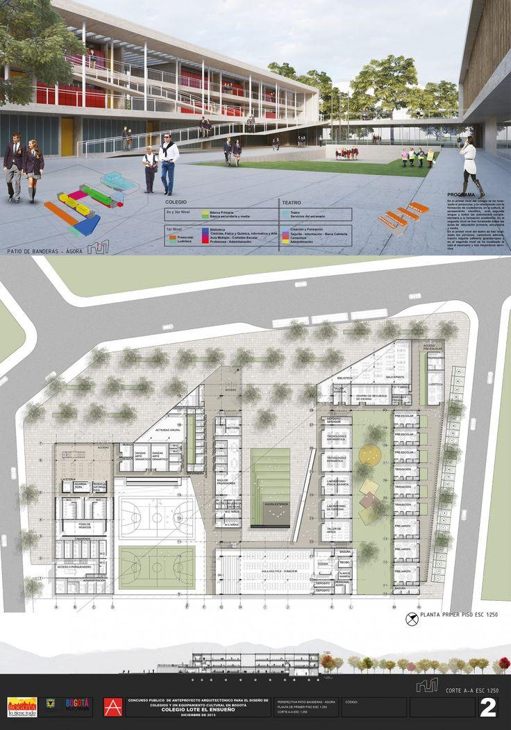 Cuarto Lugar Concurso Para el Diseño de Colegios y un Equipamiento Cultural – Teatro, en Bogotá / Colombia Cuarto Lugar Concurso Para el Diseño de Colegios y un Equipamiento Cultural – Teatro, en Bogotá / Colombia – Plataforma Arquitectura