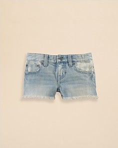 Ralph Lauren Childrenswear Girls' Denim Shorts - Sizes 2-6X_0
