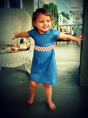Tutorial: Repurposed Shirt into toddler dress