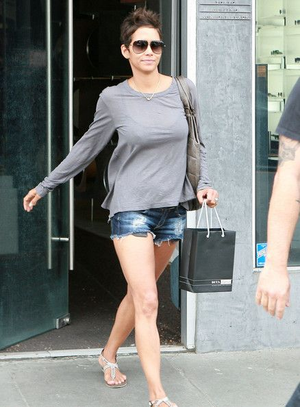 Halle Berry. . .just amazing with her short hair