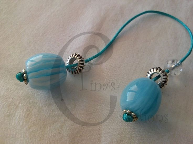 Greek begleri for him light blue silver plated charm crackle bead tinas creation