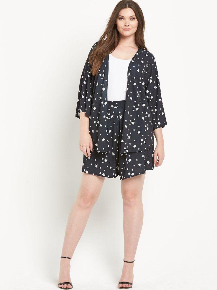 So Fabulous Star Print Jersey Kimono Jacket | very.co.uk