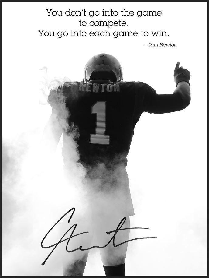 NFL Carolina Panthers Cam Newton Poster Play To Win Team Spirit Store Product #TeamSpiritStore #CarolinaPanthers