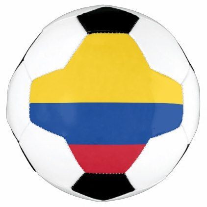 Patriotic Soccer Ball with Colombia Flag - elegant gifts gift ideas custom presents