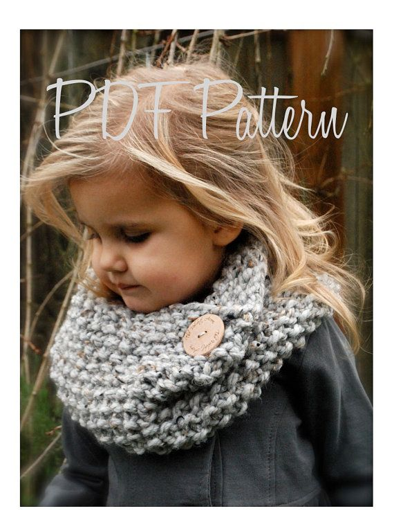Knitting PATTERNThe Londynn Cowl Toddler Child by Thevelvetacorn, $5.50