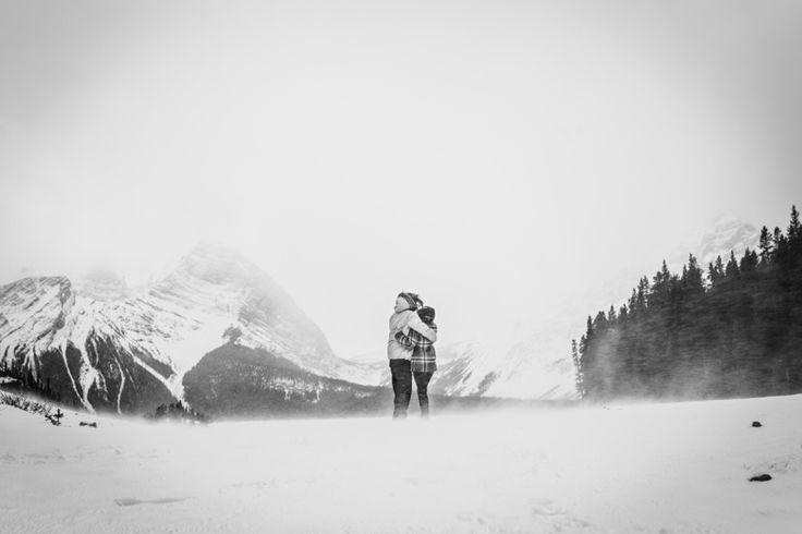 In amongst it all - together. Taken in Kananaskis, Rocky Mountains, Canada. Photo by Benjamin Stuart Photography #weddingphotography #rockies #canada #love #engagementshoot #soontobemrandmrs