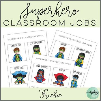This free Superhero Classroom Jobs resource was created as a gift to you for back to school. It was not intended to be an exhaustive resource, but includes 25 cards featuring jobs commonly found in an elementary classroom. It is NOT editable and at this time, I am not able to take custom requests to make any changes to this resource.