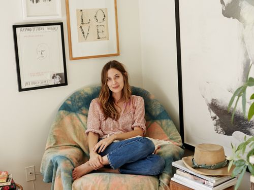 We Are The Rhoads - Kinfolk Home / Issue 11 // California Dreaming - love the tie dye draped over the chair