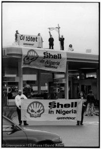After Decades of Death and Destruction, Shell Pays Just $83 Million for Recent Oil Spills: Toxics Occupation of Shell Petrol Station in ZurichToxic Besetzung Shell Tankstelle