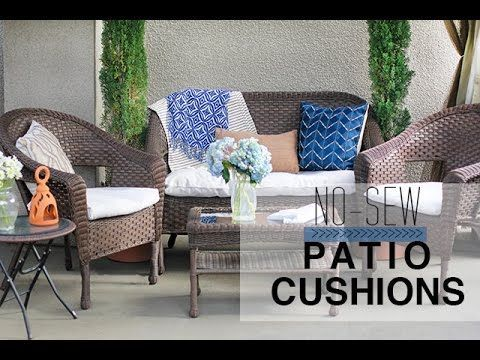 How To Recover Patio Cushions Without Sewing If Your Patio