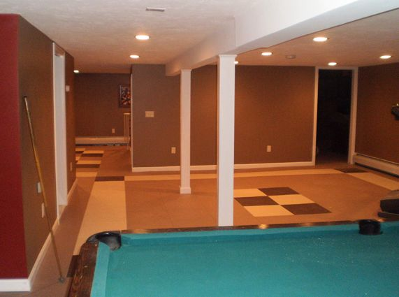 Rubber Floor Tile For Basement And Mud Room   Water Proof And Great For High
