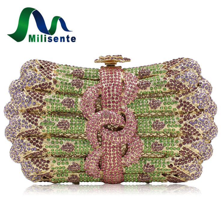 Aliexpress.com : Buy New Women Luxury Crystal Clutch Handbag Rhinestone Evening Bag Wedding Purse Party Gold Silver Pink from Reliable bag paper suppliers on Milisente Store