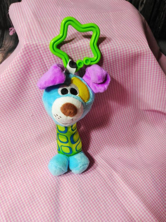 Baby Toy Teddy Pram Toy Hanging Crib Rattle by PPbabyboutique