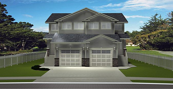 Duplex Plan 2011561 2 Storey Side By Side Duplex With A Mother In Law Suite Attach Garage 3 Bedrooms 3 Baths Duplex Floor Plans Duplex Plans In Law House