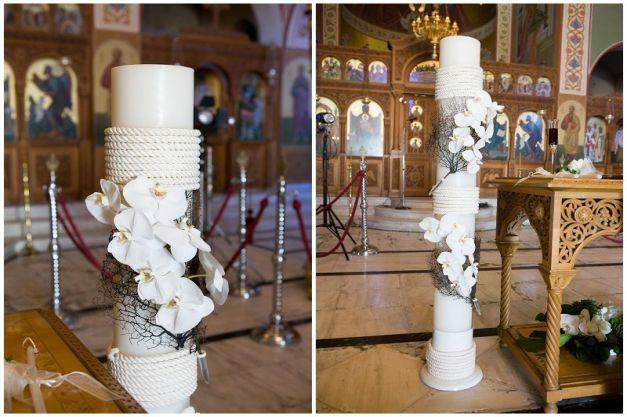 Lambades (church candles) photo Ippokratis Alexiou | event design StellaAndMoscha