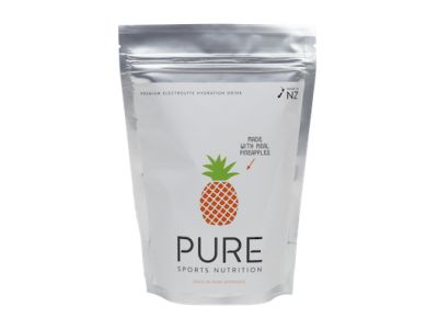 Pure Pineapple electrolyte hydration is a premium natural sports drink using real fruit, carbohydrates and electrolytes. Pure has been scientifically formulated to rehydrate and replenish your body while exercising. It delivers a special blend of fast absorbing carbohydrates to help keep you body rapidly fuelled during exercise.