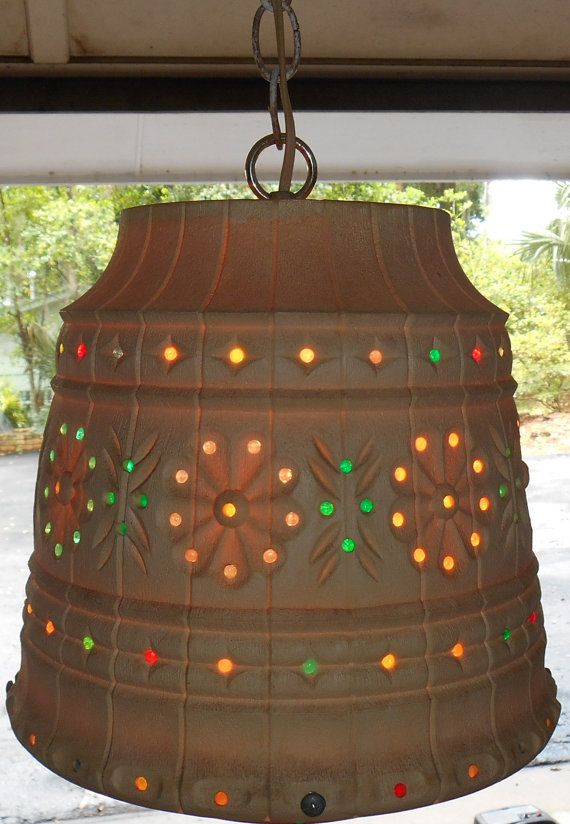 Outdoor Hanging Swag Lamp By Lawnware Retro By DomesticBlissJRC I Bought  This For The Screenhouse! Patio LightingSwag