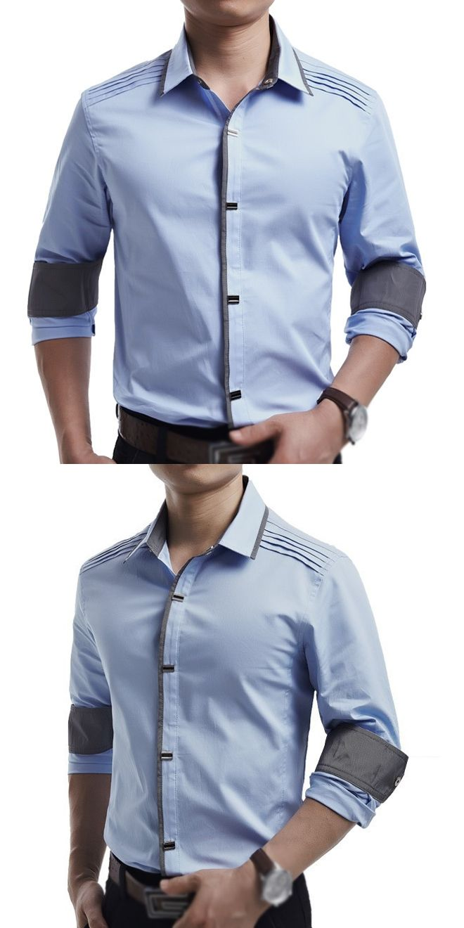 New Spring Autumn Cotton Dress Shirts High Quality Mens Casual Shirt