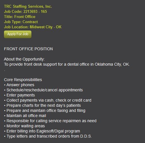 Front Office Position About The Opportunity To Provide Front Desk