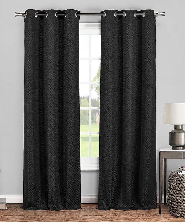 Black Dylan Blackout 365 Curtain Panel