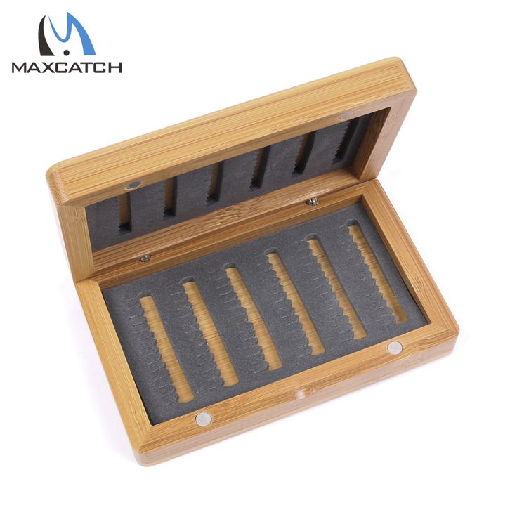 Maximumcatch High Quality Bamboo Fly Fishing Box for Flies Fly Fishing Tackle Box free shipping worldwide