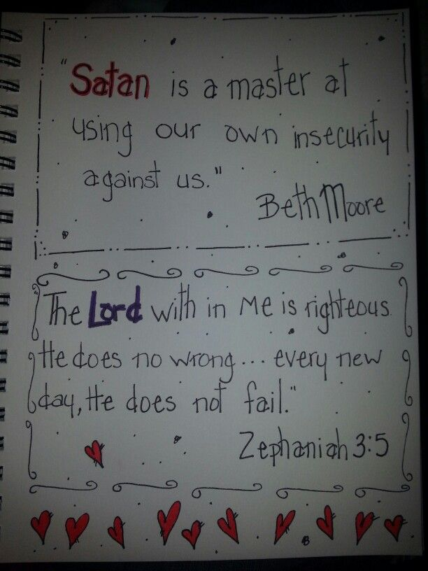 Beth Moore quote and Zephaniah 3:5