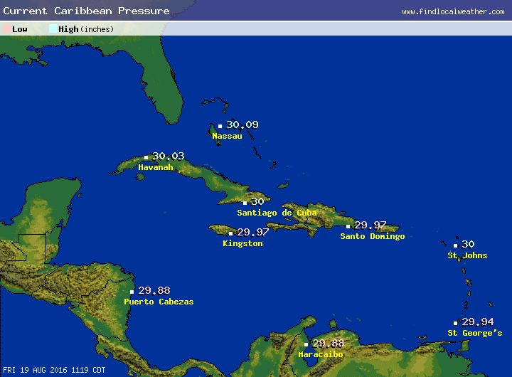 Caribbean Weather Map   Hermanhissjewelers
