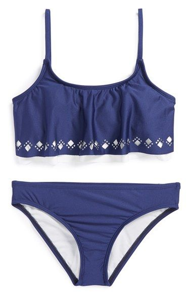 Free shipping and returns on Splendid Cutout Crop Top Two-Piece Swimsuit (Big Girls) at Nordstrom.com. A nautical-navy swimsuit sports cropped, cutout overlays for a carefree look that's ready for the beach.