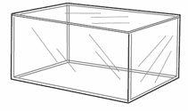 Wide Acrylic Display Box  #acrylic #cube