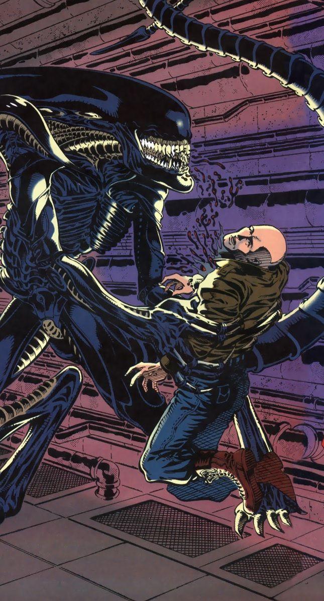 The Runner Alien goes for the kill in Alien 3 #Alien #Aliens