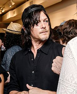 Norman Reedus attends the opening of the 9 Lives group show at Castle Fitzjohns Gallery