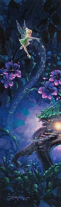 Disney Fairy Tinkerbell among the stars
