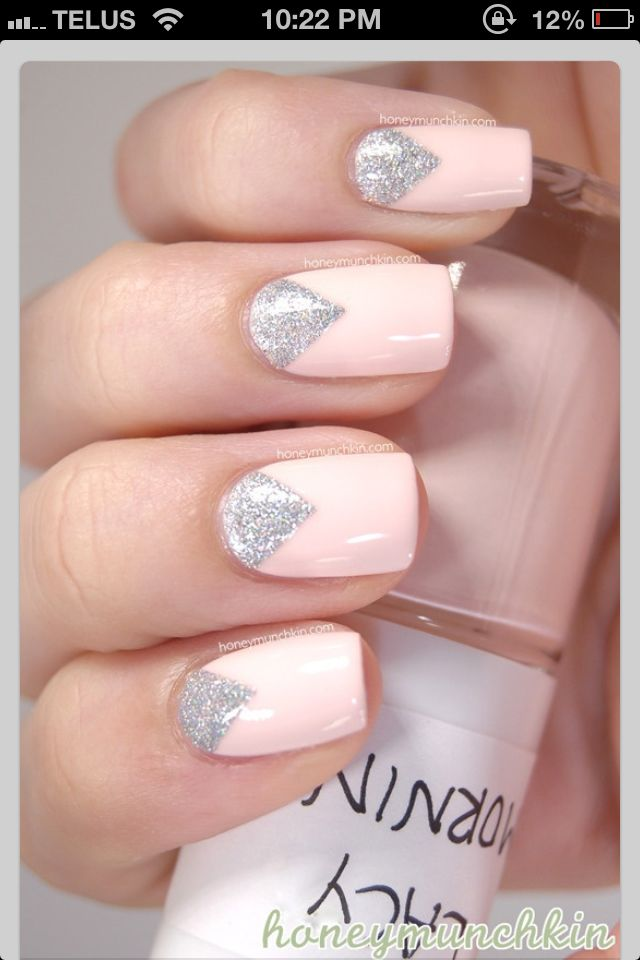 Pastel pink and sparkles