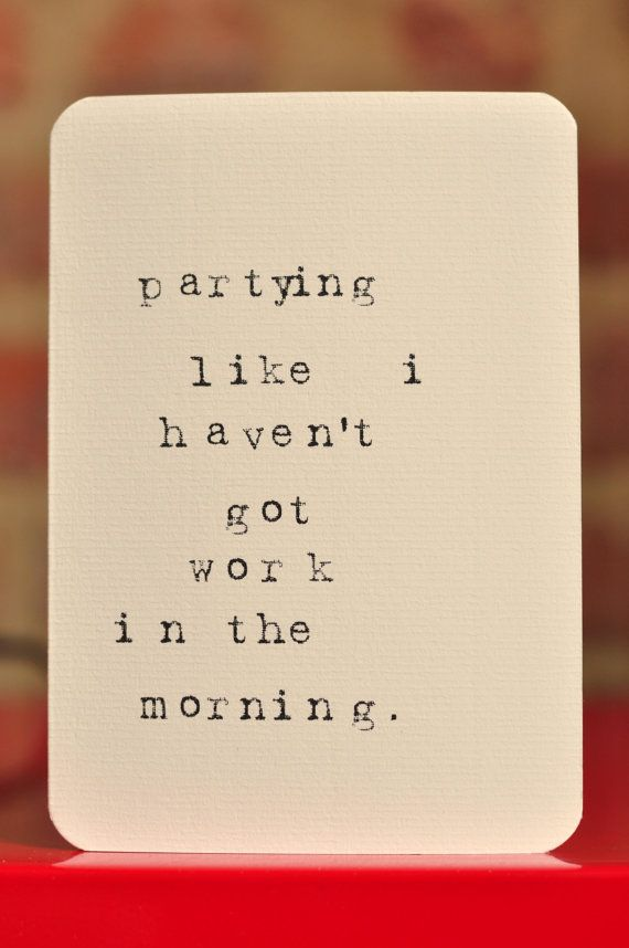 Mardy Mabel Greetings Card: partying like i haven't got work in the morning.. £3.00, via Etsy.