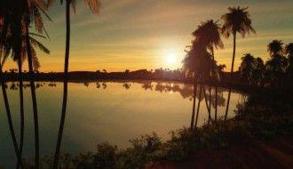 Sunset Digital Blasphemy Wallpaper HD Ocean 1920x1200px Resolution