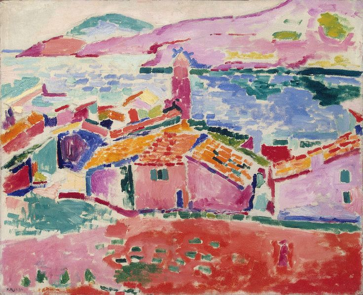 Les toits de Collioure (1905) Henri Matisse Oil on canvas. In the collection of the Hermitage Museum.