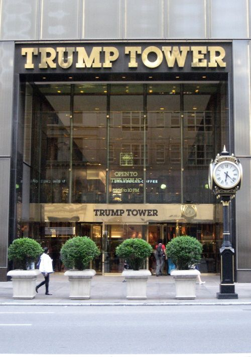 TRUMP TOWER, NYC. ~ 5th Avenue: gardens on the 4th floor, an atrium, ice cream shop! Def a must-see :)