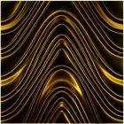 Dunin 3D Mazu Golden Wave 60x60 cm