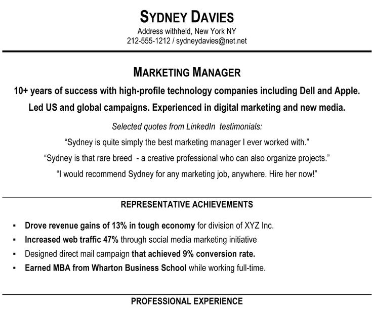 The 25+ best Executive summary example ideas on Pinterest - resume overview examples