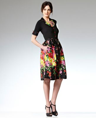 Leona dress-love the pretty floral cotton skirt and jersey top