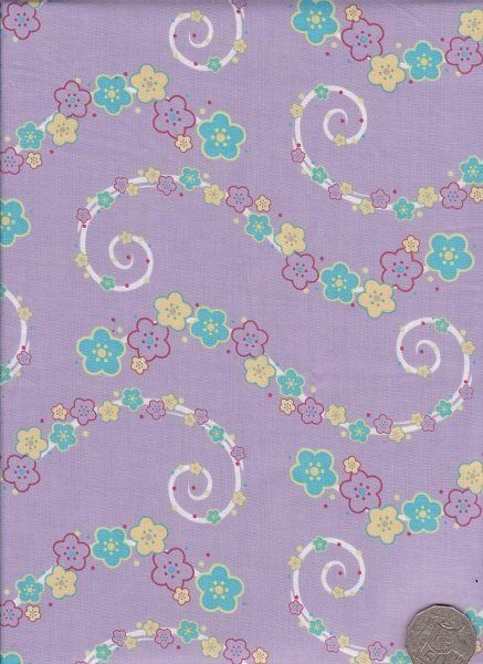 """Floral Purple  """"Where The Wind Blows"""" designed by Melanie Hurlston."""