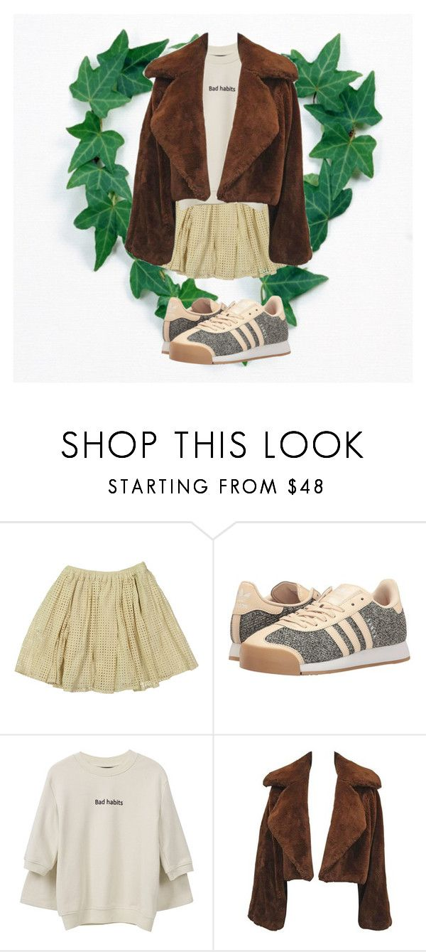 """""""picnic attire"""" by ohwowlovely ❤ liked on Polyvore featuring Tia Cibani, adidas Originals and Front Row Shop"""