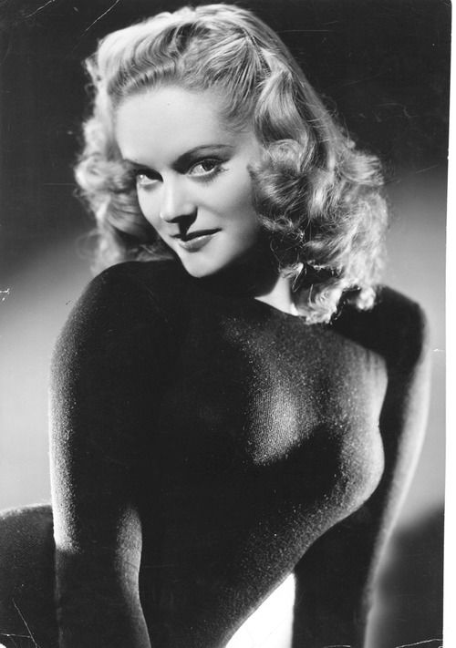"""Alexis Smith, promo photo for """"Steel Against the Sky,"""" 1941."""